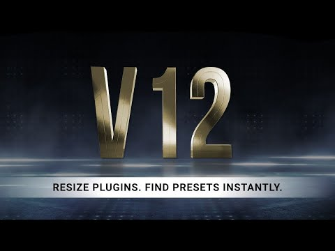 Introducing Waves V12 – Resize Plugins. Find Presets Instantly.