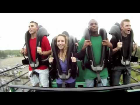 Green Lantern At Six Flags Great Adventure Off Ride Youtube