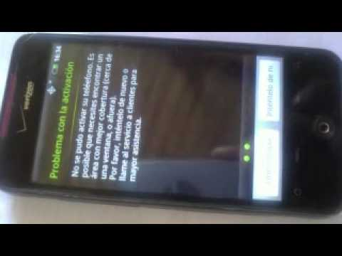 Htc droid Incredible problemas pantalla de activacion