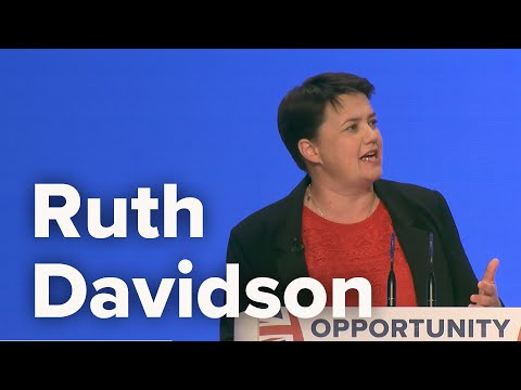Ruth Davidson, Leader of the Scottish Conservatives & Unionists - Conservative Party Conference 2018