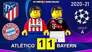 Atletico Madrid vs Bayern 1 1 Champions League 20 21 in Lego All Goals Highlights Lego Football