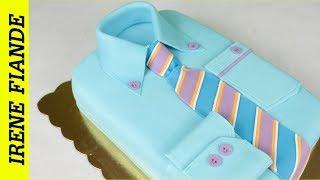 Торт  Рубашка.Подробный мастер класс рубашка. Вкусный #торт для мужчин!!!