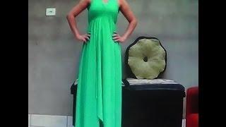 Como fazer Vestido longo sem costura, rápido e fácil por Flaviani Custodio