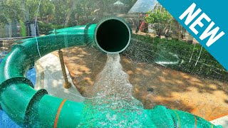 GLASS WATER SLIDE! Boogie Ride at Tikibad Duinrell [NEW 2019]