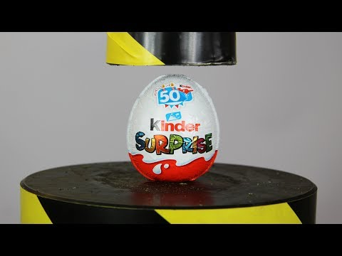 Toys Review Kinder Surprise Egg And Toys VS Hydraulic Press | The Crusher