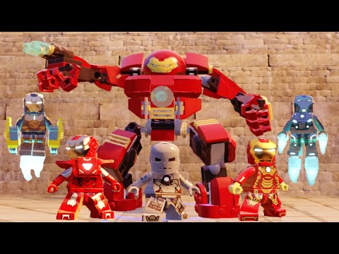 Lego Marvels Avengers All Iron Man Suit Up Animations (All ... Lego Iron Man 3 Suits