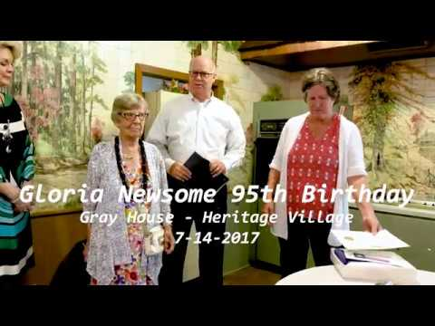 Gloria Newsome 95th Birthday - Gray House - 7-14-2017