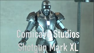 Marvel Iron Man 3 Comicave Studios 1/12 Scale SHOTGUN MARK XL 40 unboxing review SDCC