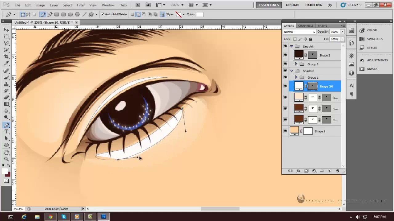 Vector Line Art Converter : Vector vexel eyebrow youtube