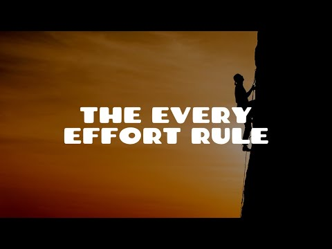 The Every Effort Rule | Equity & Trusts