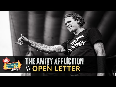 The Amity Affliction - Open Letter (Live 2015 Vans Warped Tour)
