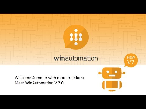 WinAutomation Version 7 Live Product Webcast