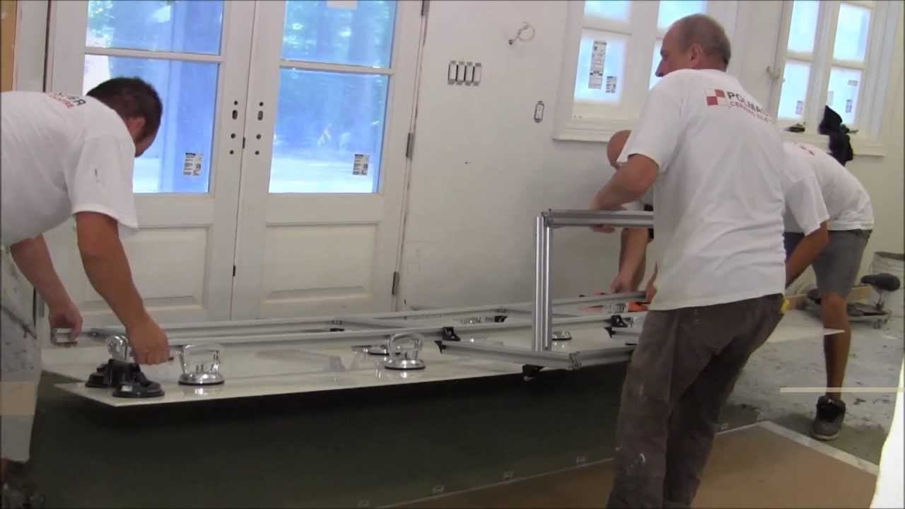 Thin porcelain tiles installation 14x5x10 6mm 15m 3m with thin porcelain tiles installation 14x5x10 6mm 15m 3m with tile leveling system youtube dailygadgetfo Choice Image