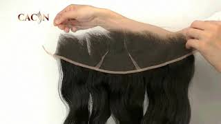 CACIN virgin hair 13x4 lace frontal, top quality, swiss lace