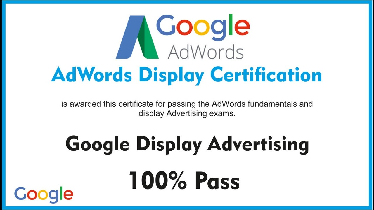 Latest nov 2016 100 pass exam google adwords display latest nov 2016 100 pass exam google adwords display certification live exam score 87100 xflitez Image collections