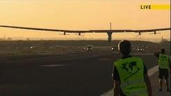Solar plane completes first-ever Atlantic flight