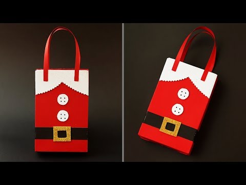 DIY Santa Claus Gift Bag For Christmas | How To Make A Paper Bag