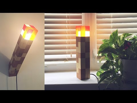 Ultra Realistic Minecraft-Inspired Torch Lamp - DIY