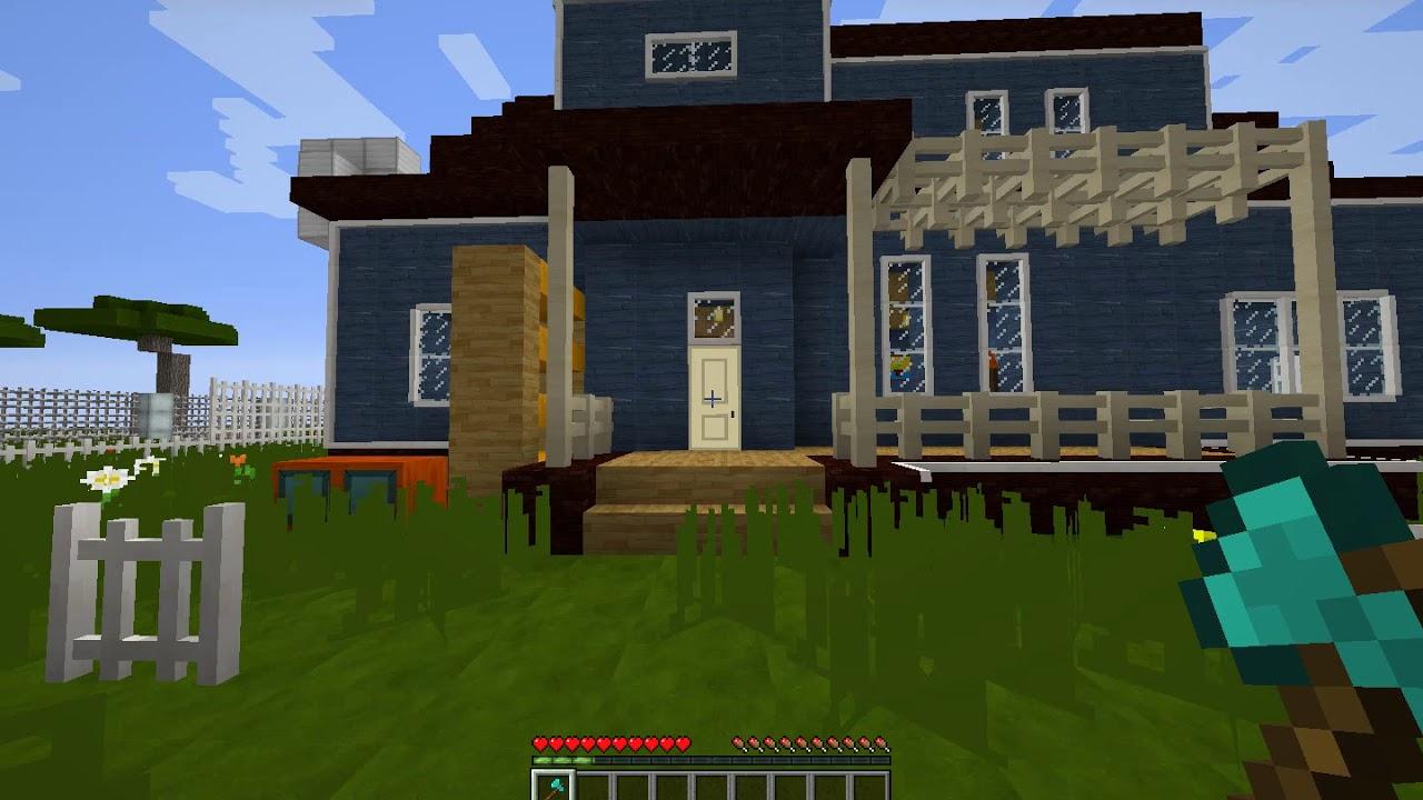 Hello Neighbor Full In Minecraft Act 1 Youtube