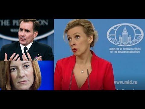 Zakharova tells the US State Department, BBC where to go ...