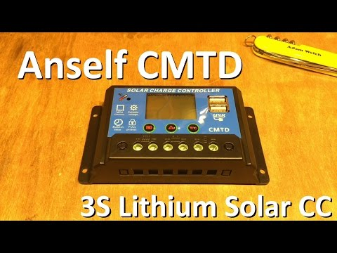 Anself CMTD 3S Lithium Solar Charge Controller - 12v Solar Shed