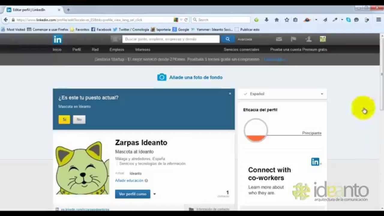 Cómo crear un perfil de Linkedin en inglés u otro idioma - YouTube