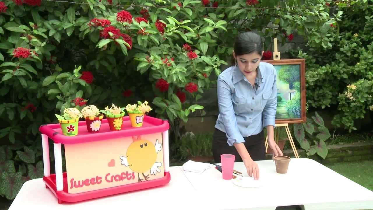 Macetas de barro con decoraci n floral youtube - Decoracion con macetas ...
