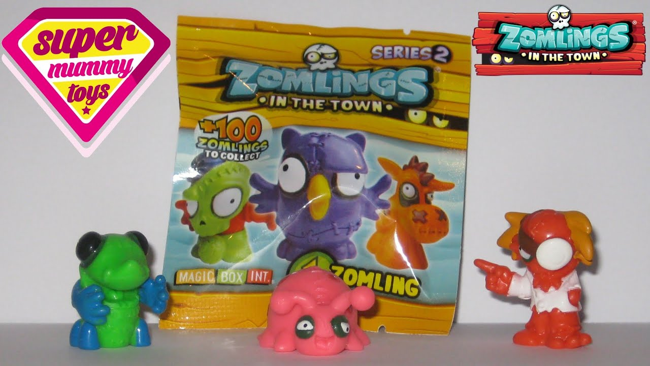 Zomlings Series 2 Blind Bags Toy Unboxing