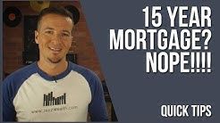 Why you don't do a 15 year mortgage | Fin Tips