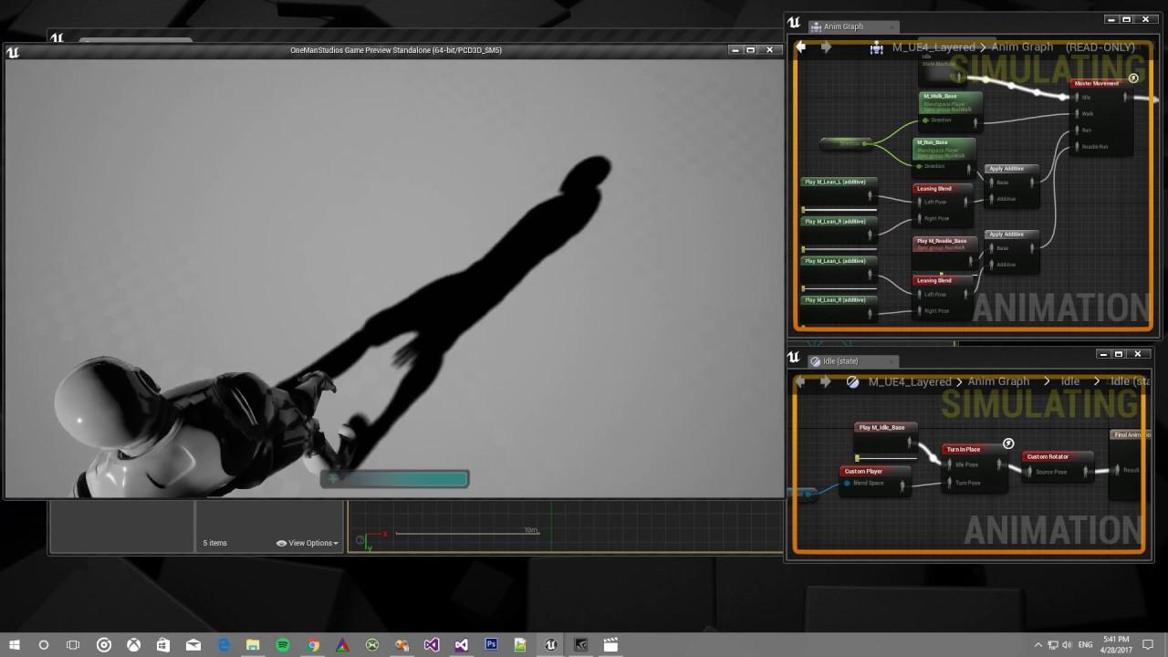 UE4 Locomotion with Custom Animation Nodes