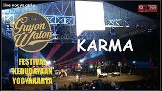 KARMA - Guyon Waton   di acara FKY festival kebudayaan yogyakarta 2019