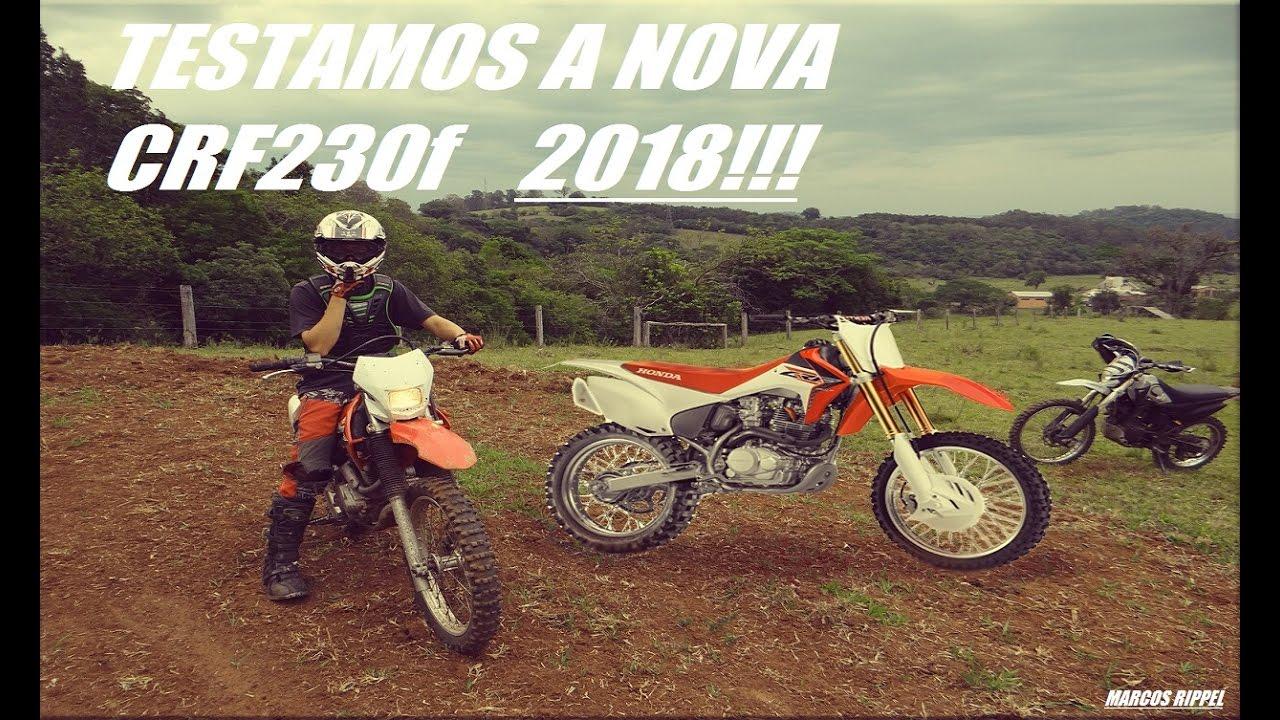 crf230f 2018 testando a nova moto youtube