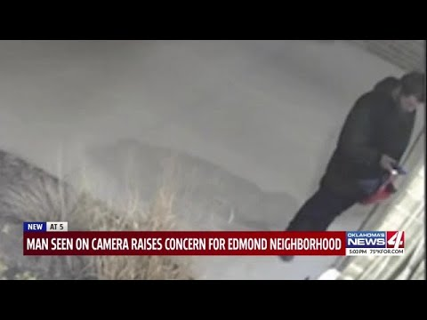 Oklahoma neighborhood on edge after man caught on camera lurking outside homes