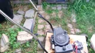 Homemade lawn mower generator for cheap.