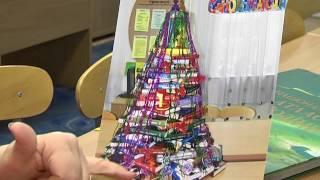 Книжную ёлку создали в научной библиотеке Днепра