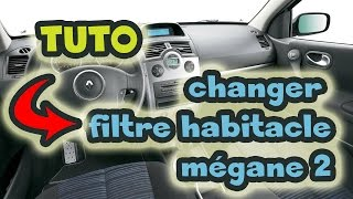 tuto changer filtre habitacle mgane 2 how to change the cabin air filter