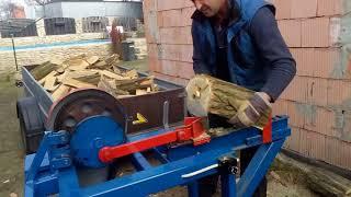 Štípačka na dřevo, domácí výroba