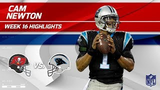 Cam Newton Highlights | Buccaneers vs. Panthers | NFL Wk 16 Player Highlights