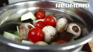 Овощной шашлык в электрошашлычнице REDMOND RBQ-0251