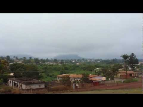 Panorama of the village of Moanda in eastern Gabon