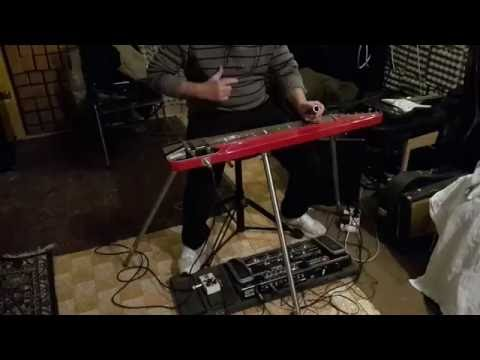 Pink Floyd - One of these days (steel guitar solo cover)