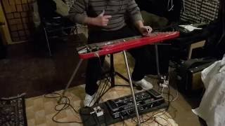 Pink Floyd - One of these days (lap steel guitar solo cover)