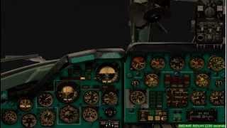 FS2004  Ту-134 night landing.Low visibility.