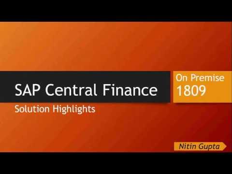 SAP Central Finance 1809