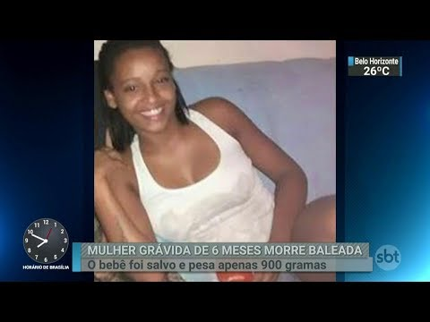 Mulher grávida de seis meses é baleada e morre no Rio de Janeiro | SBT Brasil (12/03/18)