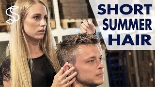 Men's short hairstyle ★ Professional haircutting ★ How to style men's hair