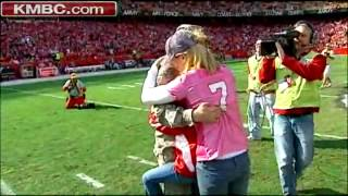 Soldier Surprises Fiance at HalfTime