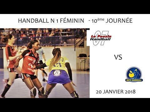 2018 01 20 Rencontres Sportives Handball N1 Féminin 10ème journée Le Pouzin vs Metz