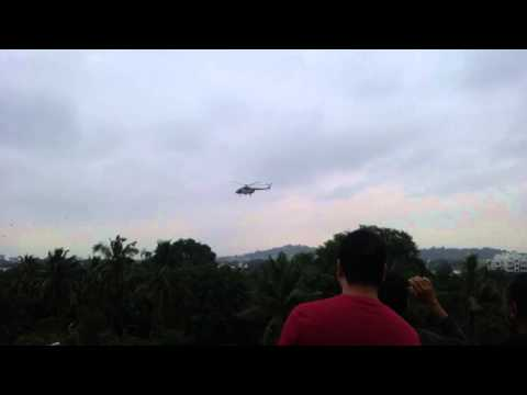 Chennai floods - helicopter over Manapakkam 1/12/2015