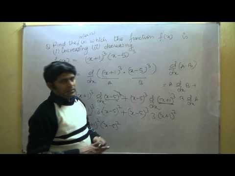 Class 12 Maths CBSE - Increasing Decreasing Functions Part 1
